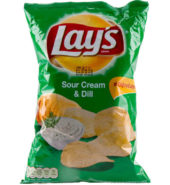 LAYS CHIPS SOUR CREAM DILL 140G