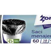 SACI MENAJ ALBASTRI COLECT SELECT ZOREX 60L 10BUCATI